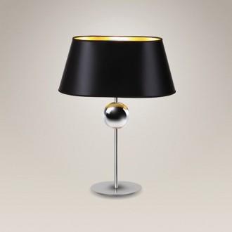 MAXLIGHT T0021 | Napoleon Maxlight stolové svietidlo 54cm prepínač 1x E27 chróm, čierna, zlatý