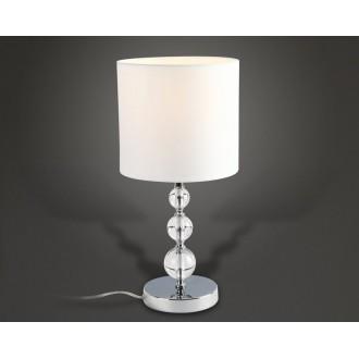 MAXLIGHT T0031 | EleganceM Maxlight stolové svietidlo 45cm prepínač 1x E27 biela, chróm, priesvitné