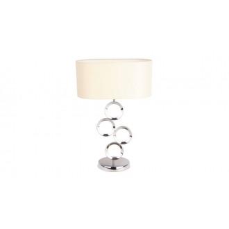 MAXLIGHT T0034 | Olimpic Maxlight stolové svietidlo 64cm prepínač 1x E14 chróm, biela