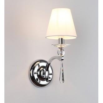 MAXLIGHT W0066 | Lisbona Maxlight rameno stenové svietidlo 1x E14 chróm, biela, priesvitné