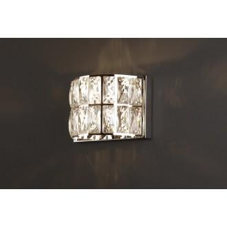 MAXLIGHT W0204 | Diamante Maxlight stenové svietidlo 1x G9 chróm, priesvitné