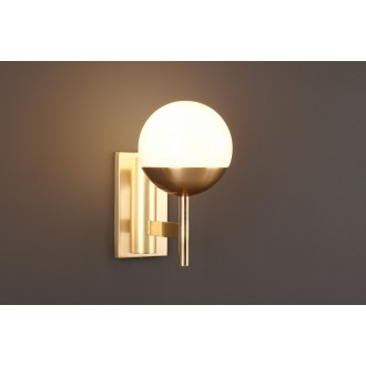MAXLIGHT W0207 | Dallas Maxlight rameno stenové svietidlo 1x E14 zlatý, biela