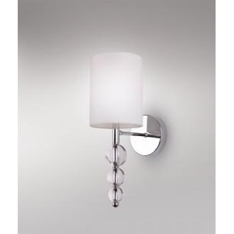 MAXLIGHT W0600 | EleganceM Maxlight rameno stenové svietidlo 1x E14 biela, chróm, priesvitné