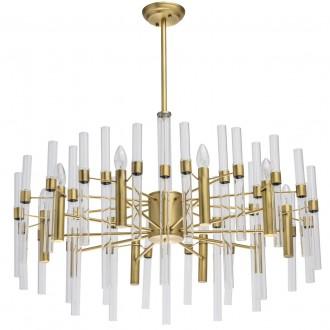 MW-LIGHT 285010910 | Alghero Mw-Light luster svietidlo 10x E14 4300lm zlatý, priesvitné