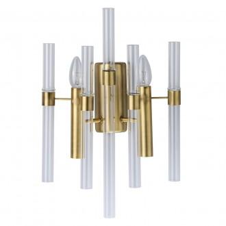 MW-LIGHT 285021002 | Alghero Mw-Light rameno stenové svietidlo 2x E14 860lm zlatý, priesvitné