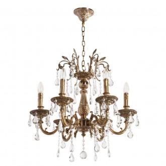 MW-LIGHT 301013506 | Candle-MW Mw-Light luster svietidlo 6x E14 3870lm starožitná zlata, krištáľ