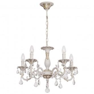 MW-LIGHT 301014605 | Candle-MW Mw-Light luster svietidlo 5x E14 3225lm antická biela, krištáľ