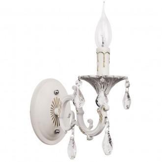 MW-LIGHT 301024501 | Candle-MW Mw-Light rameno stenové svietidlo 1x E14 645lm antická biela, krištáľ