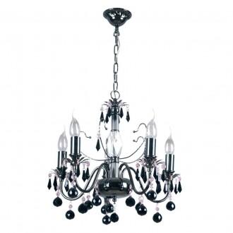 MW-LIGHT 313010105 | Barcelona-MW Mw-Light luster svietidlo 5x E14 3225lm nikel, čierna, krištáľ