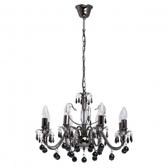 MW-LIGHT 313010208 | Barcelona-MW Mw-Light luster svietidlo 8x E14 5160lm nikel, čierna, krištáľ