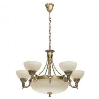 MW-LIGHT 317010708 | Aphrodite-MW Mw-Light luster svietidlo 5x E27 5160lm + 3x E14 antická meď, béž