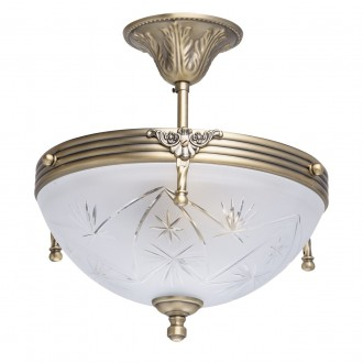 MW-LIGHT 317011603 | Aphrodite-MW Mw-Light stropné svietidlo 3x E14 1935lm matný zlatý, opál