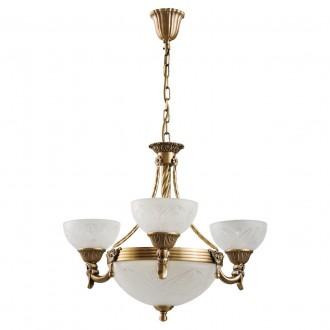 MW-LIGHT 317012006 | Aphrodite-MW Mw-Light luster svietidlo 3x E27 3225lm + 3x E14 matný zlatý, opál