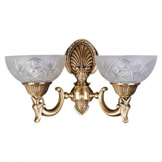 MW-LIGHT 317021902 | Aphrodite-MW Mw-Light rameno stenové svietidlo 2x E27 1290lm matný zlatý, opál