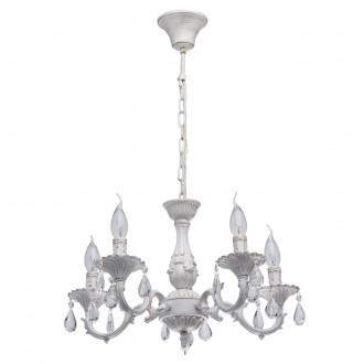 MW-LIGHT 371012605 | Aurora-MW Mw-Light luster svietidlo 5x E14 3225lm antická biela, krištáľ