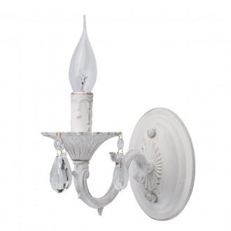 MW-LIGHT 371022501 | Aurora-MW Mw-Light rameno stenové svietidlo 1x E14 645lm antická biela, krištáľ