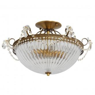 MW-LIGHT 482010204 | Selena-MW Mw-Light stropné svietidlo 4x E14 1720lm mosadz, priesvitné, krištáľ