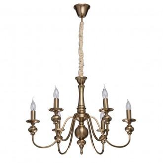 MW-LIGHT 614010506 | Consuelo Mw-Light luster svietidlo 6x E14 2580lm antická meď