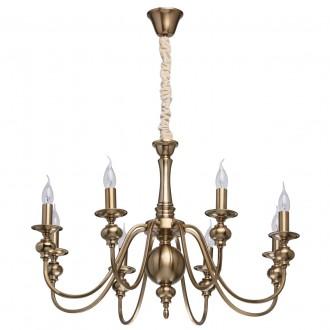 MW-LIGHT 614010608 | Consuelo Mw-Light luster svietidlo 8x E14 3440lm antická meď