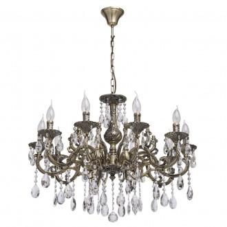MW-LIGHT 685010110 | Toscana-MW Mw-Light luster svietidlo 10x E14 4300lm antická meď, krištáľ