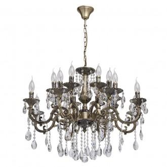 MW-LIGHT 685010216 | Toscana-MW Mw-Light luster svietidlo 16x E14 6880lm antická meď, krištáľ