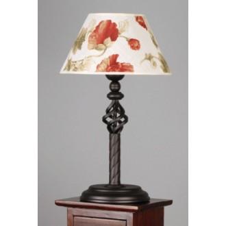 NAMAT 004 | Fara Namat stolové svietidlo 50cm prepínač 1x E27 wenge, biela, viacferebné