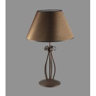 NAMAT 1223/3 | Negros Namat stolové svietidlo 62cm prepínač 1x E27 hnedá, biela