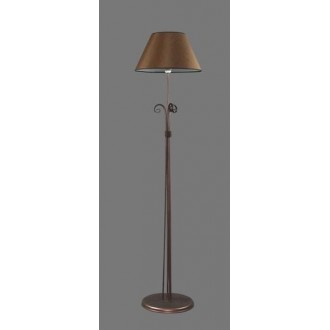 NAMAT 1224/3 | Negros Namat stojaté svietidlo 175cm prepínač 1x E27 hnedá, biela
