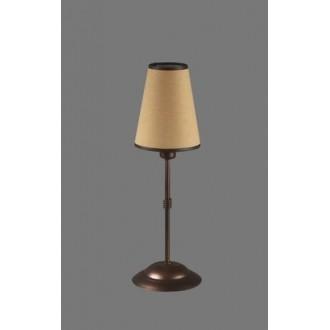 NAMAT 1233/5 | Teri Namat stolové svietidlo 40cm prepínač 1x E14 hnedá, béž, biela