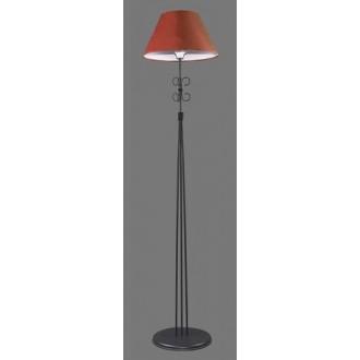 NAMAT 1244/11 | Santa Namat stojaté svietidlo 175cm prepínač 1x E27 čierna, červená