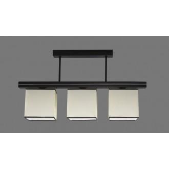 NAMAT 1261/1 | Aris1 Namat stropné svietidlo 3x E27 biela, čierna