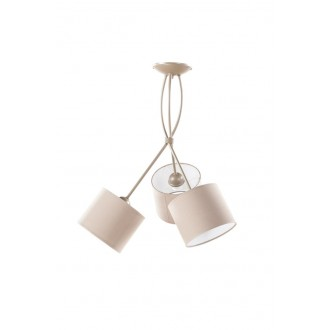 NAMAT 1749 | Olaf Namat stropné svietidlo 3x E27 zemitý, bežové, biela