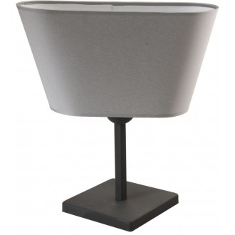 NAMAT 2376 | Werena Namat stolové svietidlo 37cm prepínač 1x E27 sivé, biela
