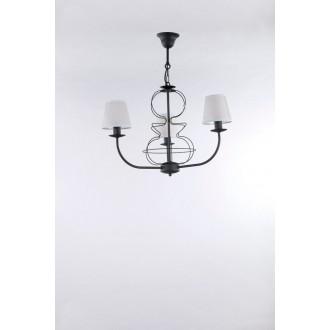 NAMAT 3264 | Fiora Namat luster svietidlo 3x E14 matná čierna, biela priesvitná
