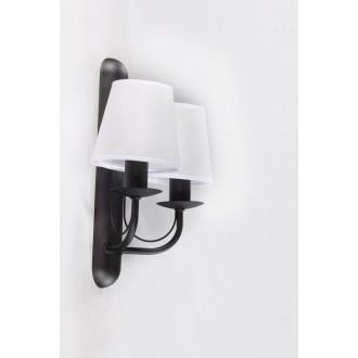 NAMAT 3265 | Fiora Namat rameno stenové svietidlo 2x E14 matná čierna, biela priesvitná