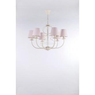NAMAT 3267 | Fiora Namat luster svietidlo 6x E14 krémové, svetloružová