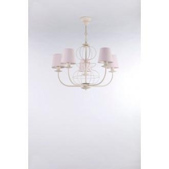 NAMAT 3268 | Fiora Namat luster svietidlo 5x E14 krémové, svetloružová