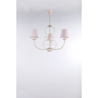 NAMAT 3269 | Fiora Namat luster svietidlo 3x E14 krémové, svetloružová