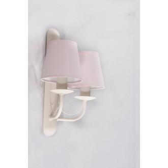 NAMAT 3270 | Fiora Namat rameno stenové svietidlo 2x E14 krémové, svetloružová