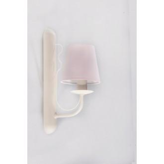 NAMAT 3271 | Fiora Namat rameno stenové svietidlo 1x E14 krémové, svetloružová