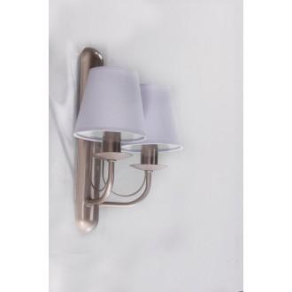 NAMAT 3275 | Fiora Namat rameno stenové svietidlo 2x E14 saténový, svetlomodrá