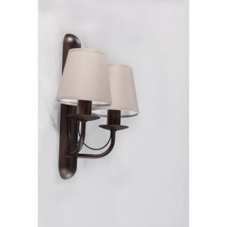 NAMAT 3280 | Fiora Namat rameno stenové svietidlo 2x E14 wenge, zemitý