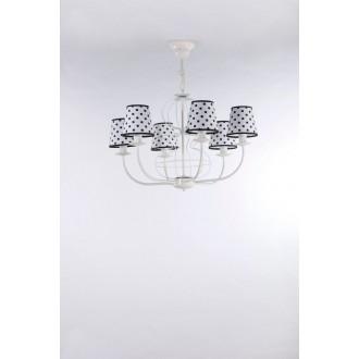 NAMAT 3282 | Fiora Namat luster svietidlo 6x E14 matný biely, biela, čierna