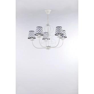 NAMAT 3283 | Fiora Namat luster svietidlo 5x E14 matný biely, biela, čierna