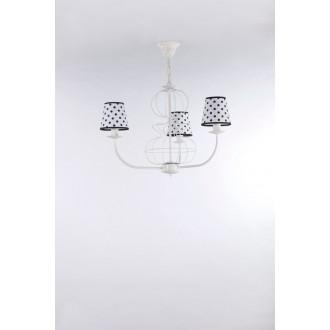 NAMAT 3284 | Fiora Namat luster svietidlo 3x E14 matný biely, biela, čierna