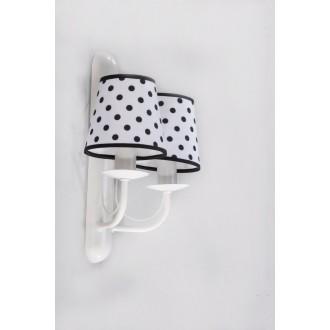 NAMAT 3285 | Fiora Namat rameno stenové svietidlo 2x E14 matný biely, biela, čierna
