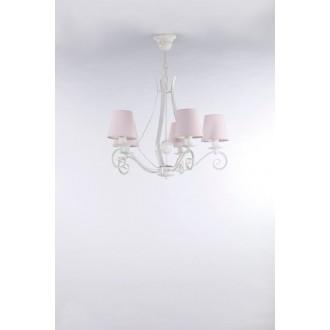 NAMAT 3503 | Szedar Namat luster svietidlo 5x E14 matný biely, svetloružová