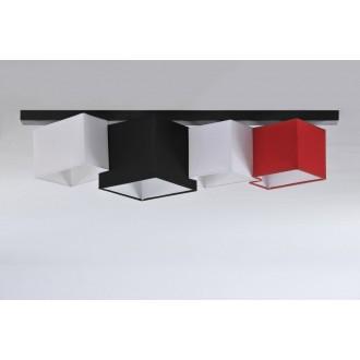 NAMAT 3720 | N4K-Geometria Namat stropné svietidlo 4x E27 čierna, biela, červená