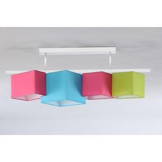 NAMAT 3732 | N4K-Geometria Namat stropné svietidlo 4x E27 ružové, tyrkysová, pistacia