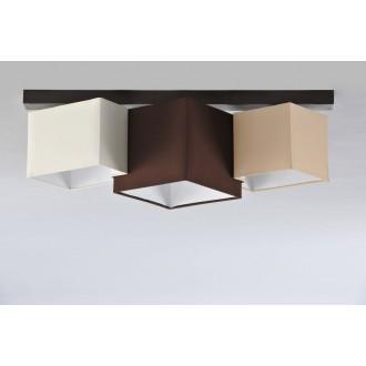 NAMAT 3756 | N3K_Puzzle Namat stropné svietidlo 3x E27 wenge, krémové, karamel